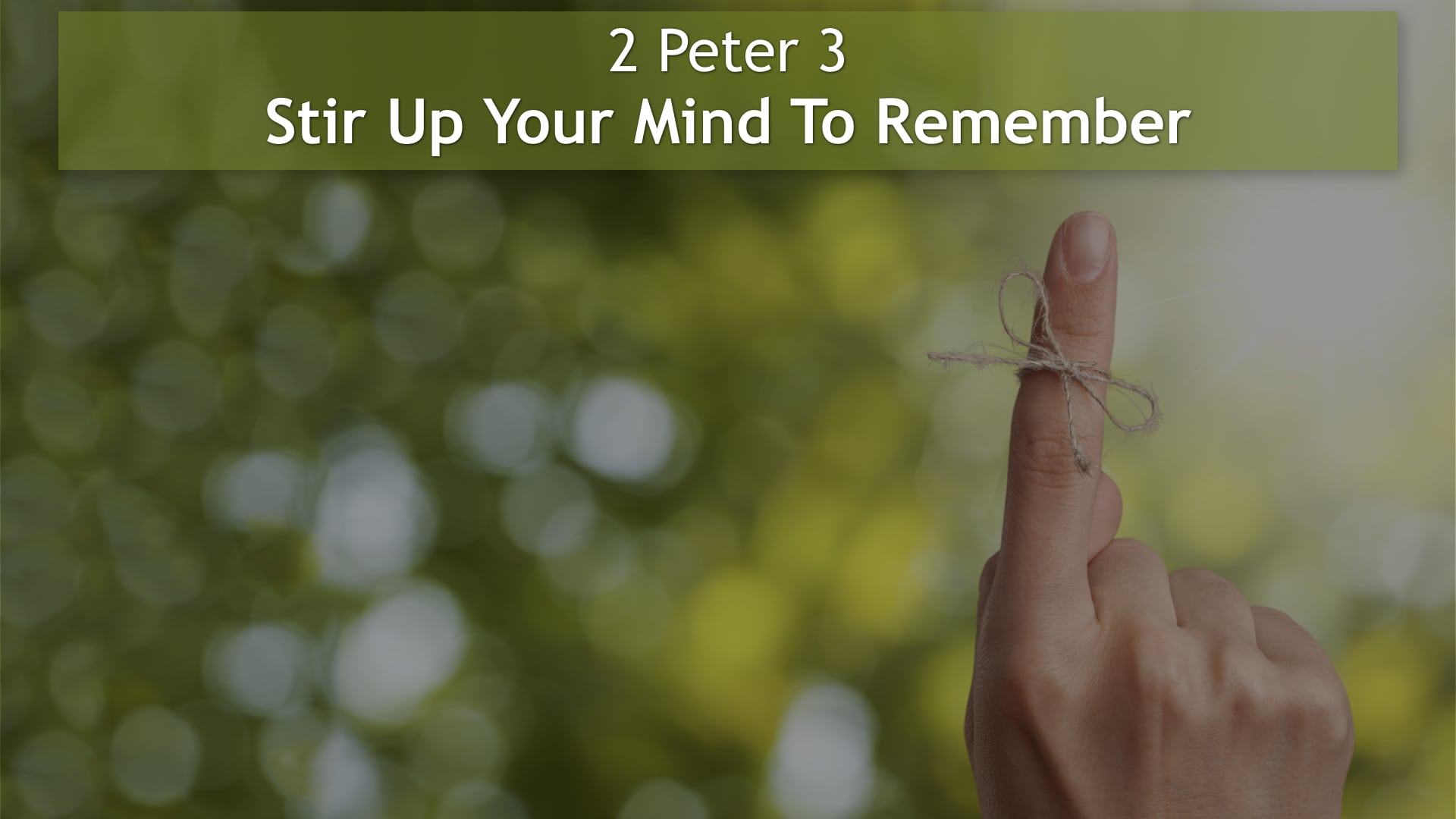 2 Peter 3, Stir Up Your Mind To Remember