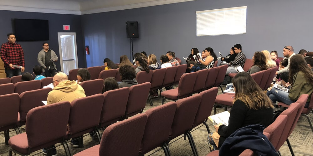 Youth in Jr High & High School study the Bible together on Sunday mornings during the 10:30am service and on Wednesdays during the 7:00pm service.