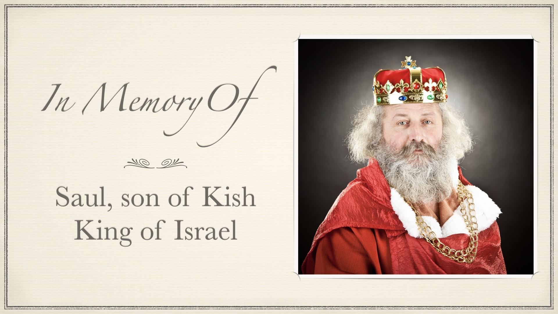 1 Samuel 31, Memorial Service For King Saul