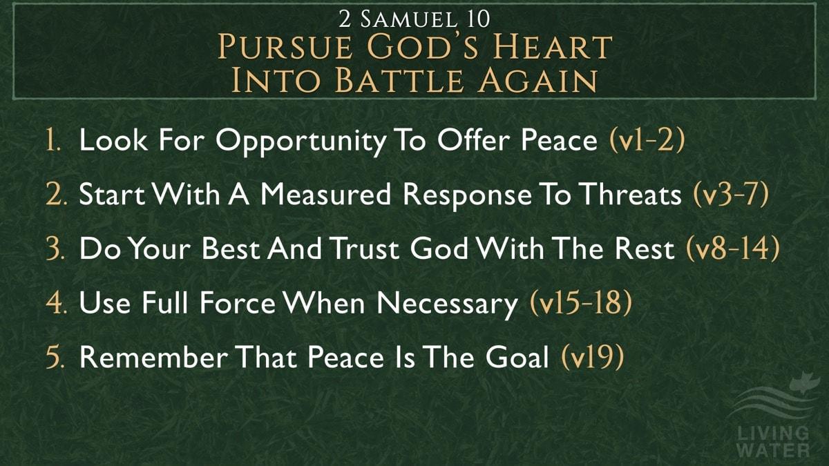 2 Samuel 10, Pursue God's Heart Into Battle Again