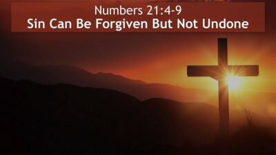 Numbers 21, Sin Can Be Forgiven But Not Undone
