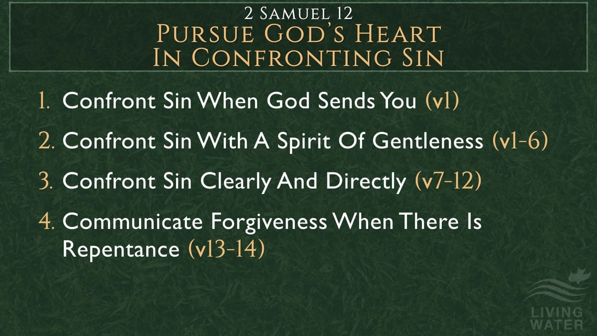 2 Samuel 12:1-14, Pursue God's Heart In Confronting Sin