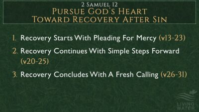 2 Samuel 12, Pursue God's Heart Toward Recovery After Sin