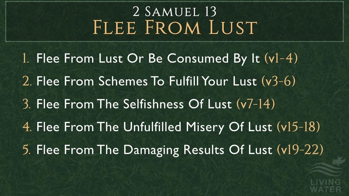 2 Samuel 13, Flee From Lust