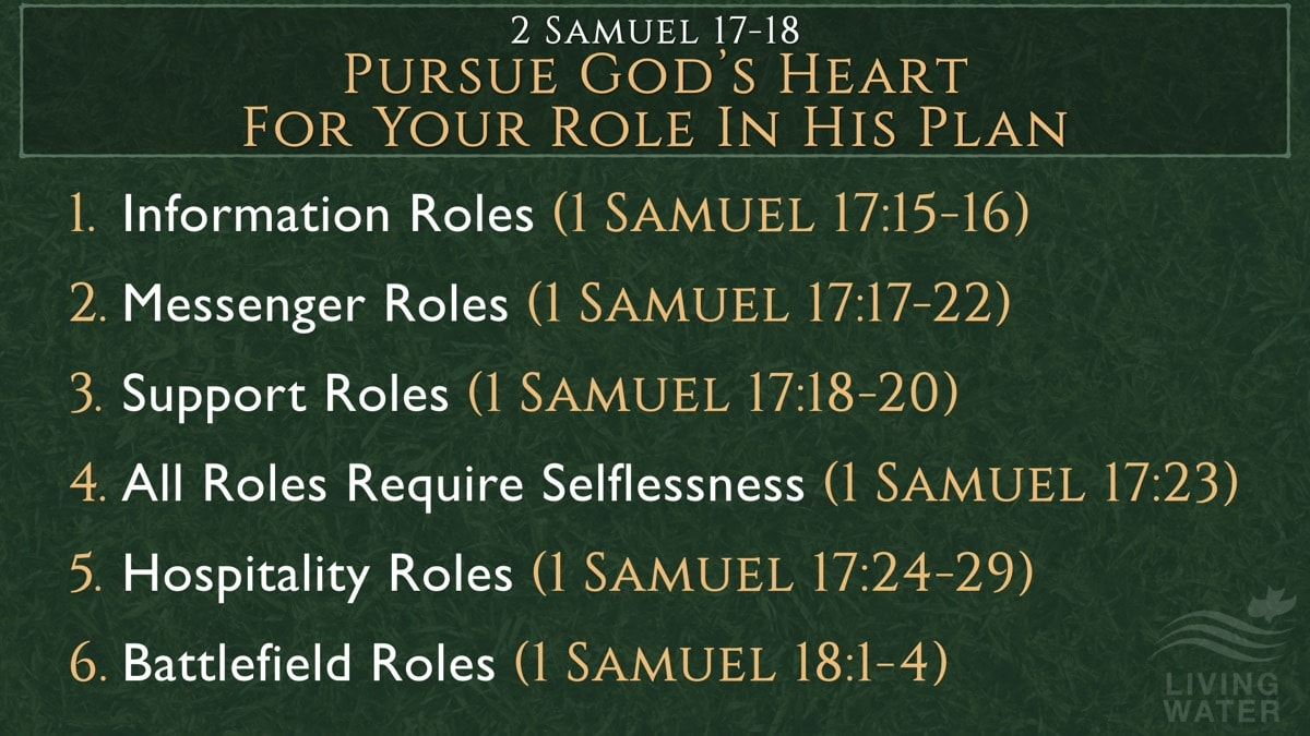 2 Samuel 17-18, Pursue God's Heart For Your Role In His Plan