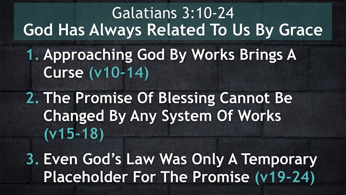 Galatians 3:10-24, God Has Always Related To Us By Grace