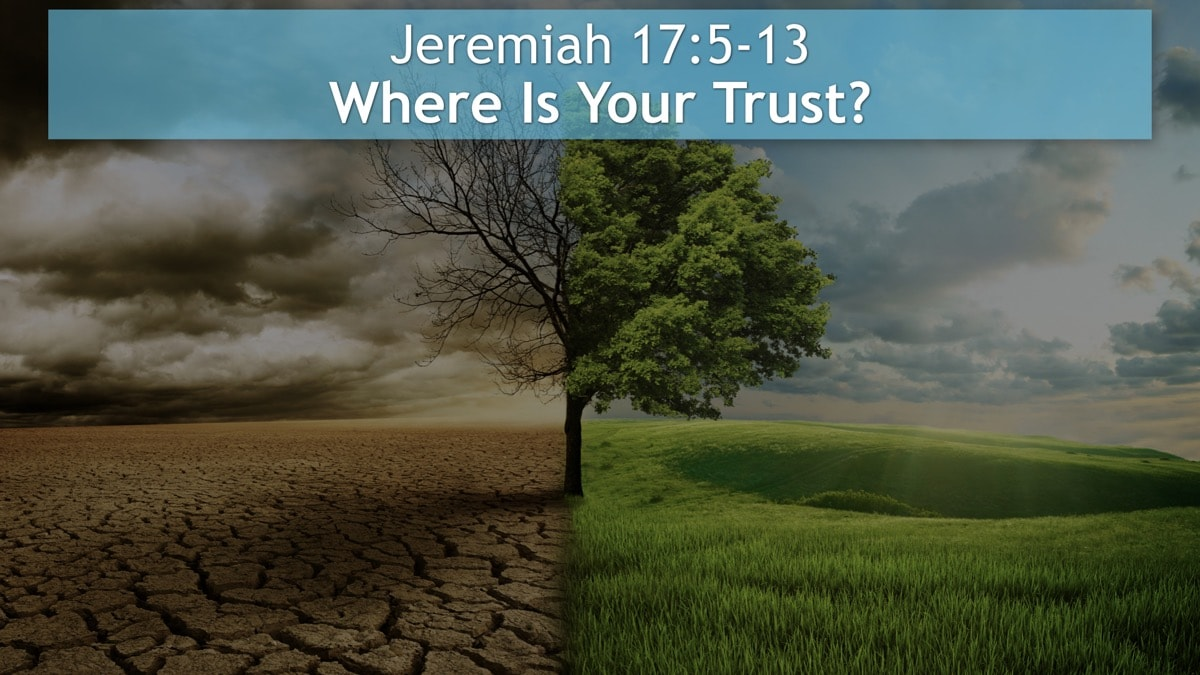Jeremiah 17:5-13, Where Is Your Trust?