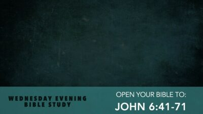 John 6 with Pastor Jerry