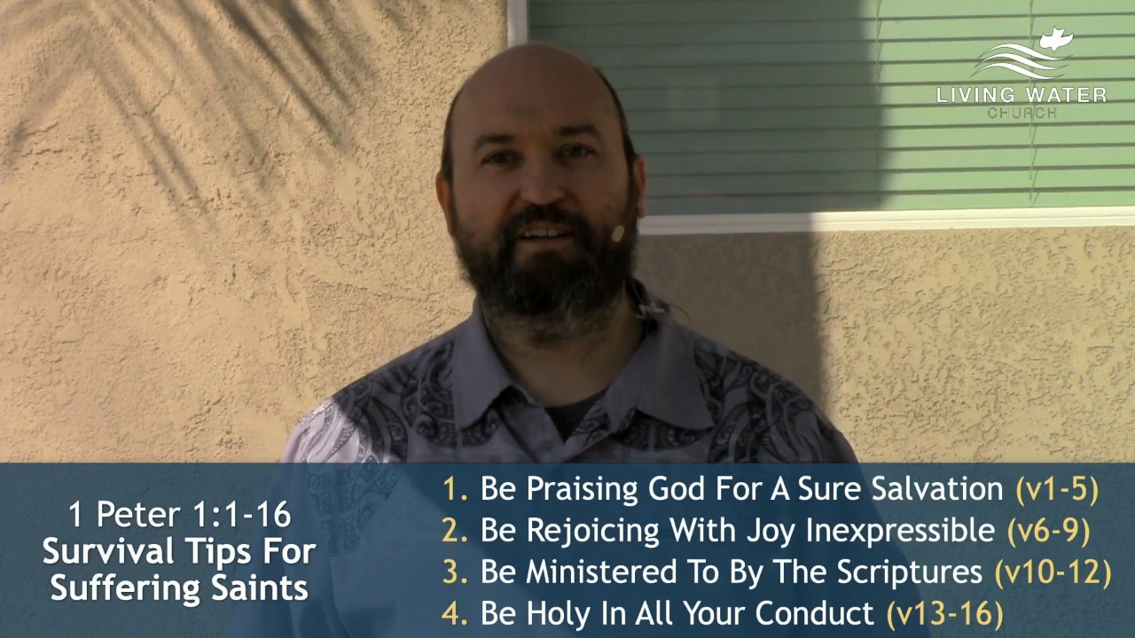 1 Peter 1, Survival Tips For Suffering Saints