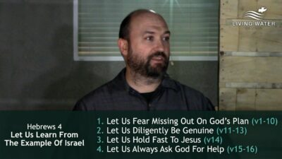 Hebrews 4, Let Us Learn From The Example Of Israel