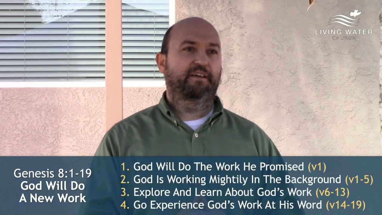 Genesis 8, God Will Do A New Work