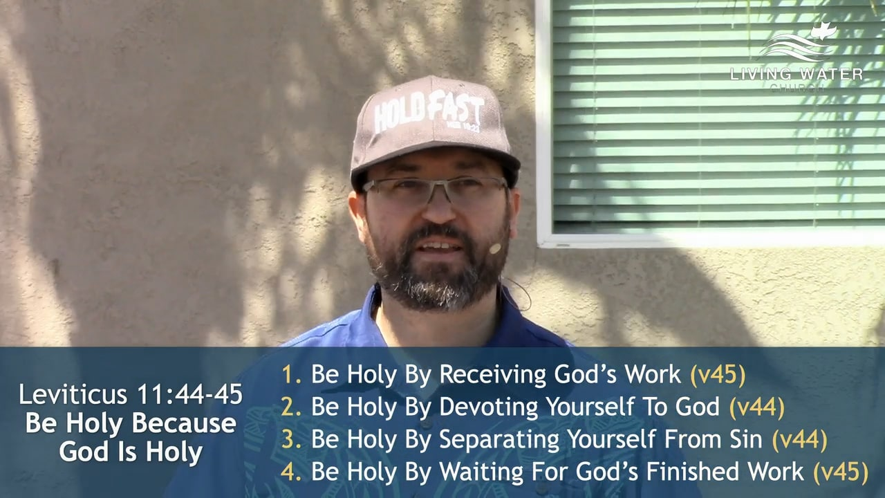 Leviticus 11, Be Holy Because God Is Holy